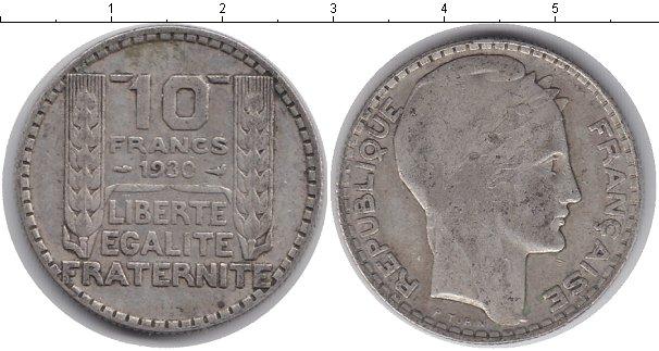 Картинка Монеты Франция 10 франков Серебро 1930