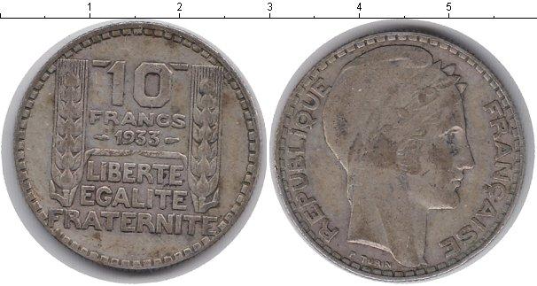 Картинка Монеты Франция 10 франков Серебро 1933
