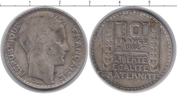 Картинка Монеты Франция 10 франков Серебро 1932