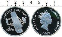 Изображение Монеты Соломоновы острова 25 долларов 2003 Серебро Proof Самолеты мира.Cамоле