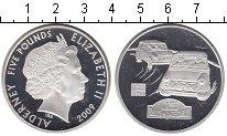 Изображение Монеты Олдерни 5 фунтов 2009 Серебро Proof Елизавета II   Ралли