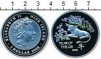 Изображение Монеты Ниуэ 1 доллар 2008 Серебро Proof Елизавета II   Год б