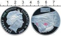 Изображение Монеты Олдерни 5 фунтов 2009 Серебро Proof Елизавета II   Carna