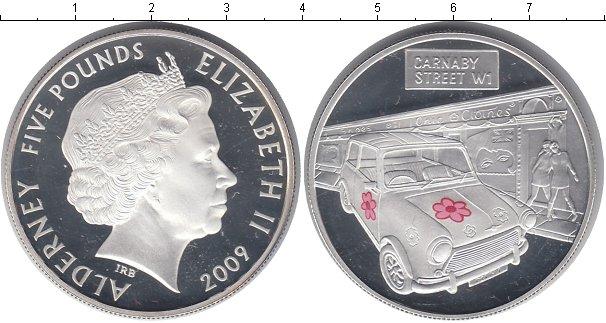 Картинка Монеты Олдерни 5 фунтов Серебро 2009
