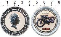 Изображение Монеты Острова Кука 2 доллара 2007 Серебро Proof Великие мотоциклы 30