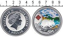 Изображение Монеты Ниуэ 1 доллар 2008 Серебро UNC Елизавета II Год кры