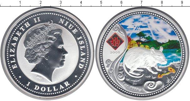 Картинка Монеты Ниуэ 1 доллар Серебро 2008