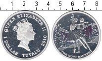 Изображение Монеты Тувалу 1 доллар 2010 Серебро Proof Щелкунчик