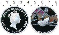 Изображение Монеты Тувалу 1 доллар 2010 Серебро Proof Дон Кихот