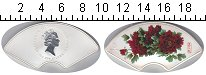 Изображение Монеты Острова Кука 5 долларов 2008 Серебро UNC Цветы