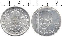 Изображение Монеты Сан-Марино 1000 лир 1996 Серебро UNC Карл Поппер