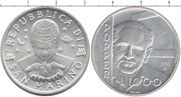 Картинка Монеты Сан-Марино 1.000 лир Серебро 1996