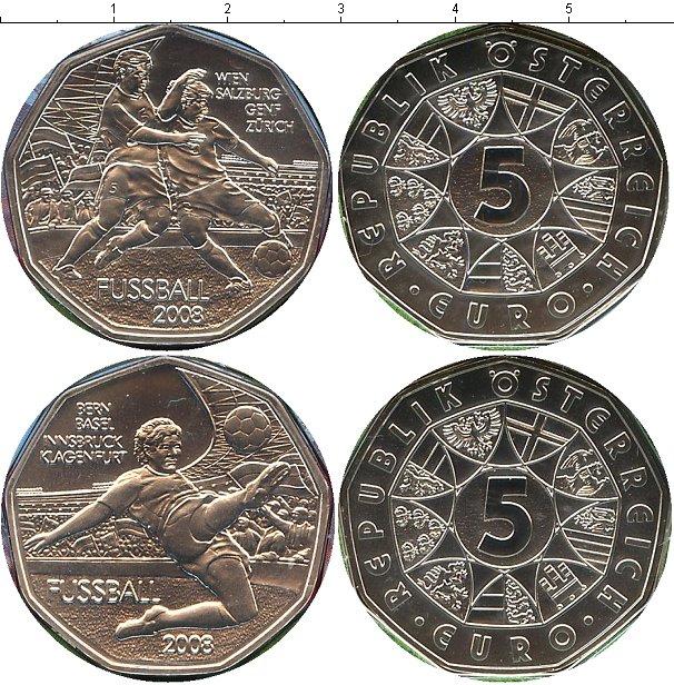 Картинка Подарочные монеты Австрия Футбол Серебро 2008