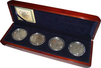 Изображение Подарочные монеты Беларусь Сказки народов мира 2005 Серебро UNC `Подарочный набор, с
