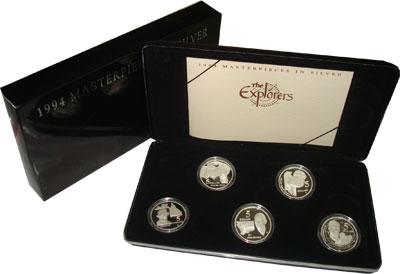 Изображение Подарочные монеты Австралия Исследователи Австралии 1994 Серебро Proof- Подарочный набор пос