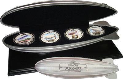Изображение Подарочные наборы Фиджи Знаменитые дирижабли 2009 Серебро Proof