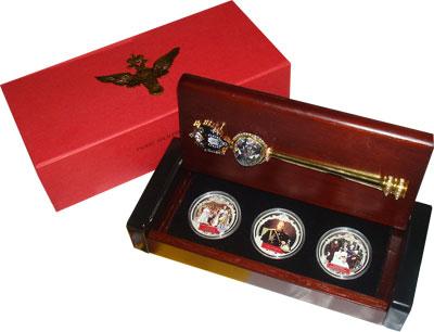Изображение Подарочные монеты Фиджи Александр III Романов 2012 Серебро Proof `Подарочный набор, с