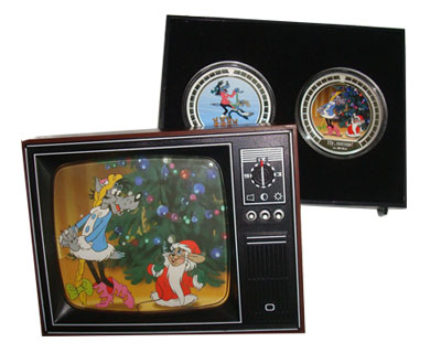 Изображение Подарочные монеты Ниуэ Ну, погоди! 2011 Серебро Proof `Подарочный набор, с
