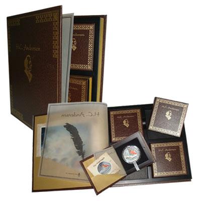 Изображение Подарочные монеты Фиджи Сказки Андерсена 2010 Серебро Proof `Подарочный набор, с