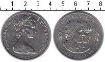 Изображение Мелочь Новая Зеландия 1 доллар 1983 Медно-никель UNC-