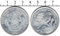 Изображение Монеты Сейшелы 25 рупий 1993 Серебро XF Сорочья славка
