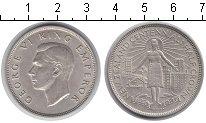 Изображение Мелочь Новая Зеландия 1/2 кроны 1940 Серебро XF Георг VI.Женщина Мао