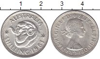 Изображение Мелочь Австралия 1 шиллинг 1961 Серебро XF Елизавета II