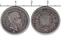 Монета Италия 50 сентесим Серебро 1860 XF фото