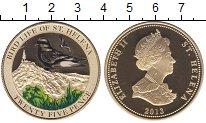Изображение Мелочь Остров Святой Елены 25 пенсов 2013 Позолота Proof Птицы Острова Святой