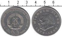 Изображение Монеты ГДР 20 марок 1972 Медно-никель XF Вилгельм Пикк
