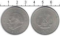 Изображение Монеты ГДР 20 марок 1972 Медно-никель XF Вильгельм Пик