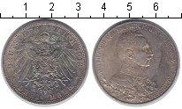 Изображение Монеты Пруссия 3 марки 1913 Серебро XF 25-летие правления В