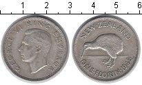 Изображение Мелочь Новая Зеландия 1 флорин 1941 Серебро XF Георг VI