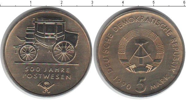 Картинка Монеты ГДР 5 марок Медно-никель 1990