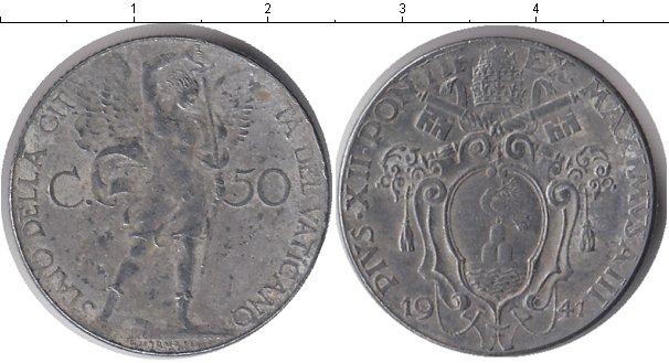 Картинка Монеты Ватикан 50 сентесимо Медно-никель 1941
