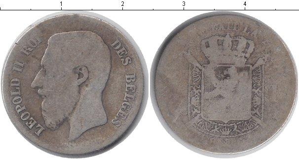 Картинка Монеты Бельгия 1 франк Серебро 0