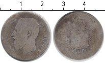 Изображение Монеты Бельгия 1 франк 0 Серебро VF Леопольд II