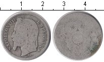 Изображение Монеты Франция 1 франк 0 Серебро VF Наполеон III