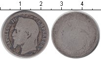 Изображение Монеты Франция 1 франк 1866 Серебро VF Наполеон III
