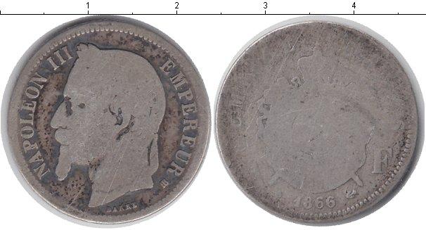Картинка Монеты Франция 1 франк Серебро 1866