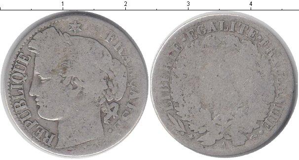 Картинка Монеты Франция 1 франк Серебро 1872