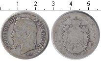 Изображение Монеты Франция 2 франка 1867 Серебро VF Наполеон III