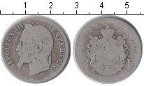 Изображение Монеты Франция 2 франка 0 Серебро VF Наполеон III