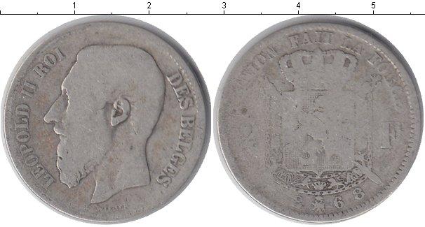 Картинка Монеты Бельгия 2 франка Серебро 1868