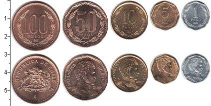 Изображение Наборы монет Чили Набор 2006 года 2006  UNC- В наборе 5 монет ном