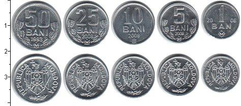 Изображение Наборы монет Молдавия Молдавия 1993-2008 0  UNC- В наборе 5 монет ном
