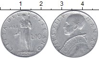 Изображение Мелочь Ватикан 10 лир 1951 Алюминий XF-