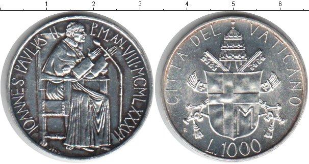 Картинка Монеты Ватикан 1.000 лир Серебро 1986