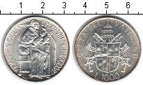 Изображение Монеты Ватикан 1000 лир 1986 Серебро UNC-