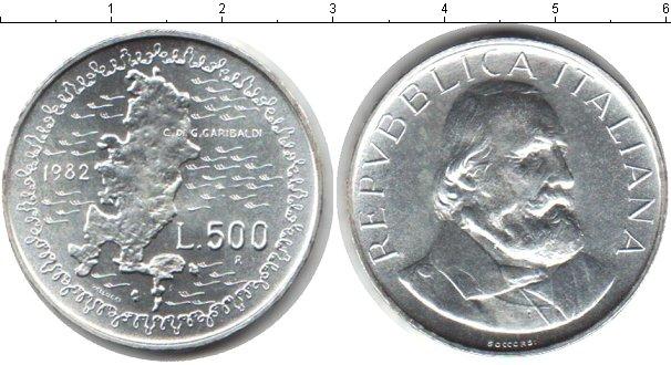 Картинка Мелочь Италия 500 лир Серебро 1982